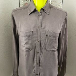 Helmet Lang Cropped Button Down Sz Small
